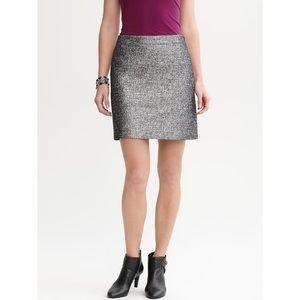 Banana Republic Metallic Mini Skirt Plus Size 14
